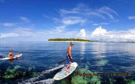 Отдых на острове Таваруа в Тихом океане