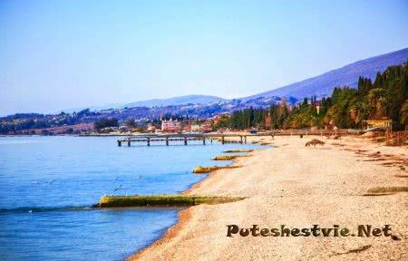 Пляжи курорта Новый Афон в Абхазии