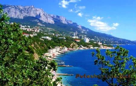 Город-курорт Алушта в Крыму