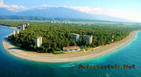 Курорт Пицунда в Абхазии