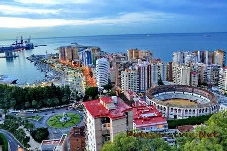 Город-курорт Малага в Испании