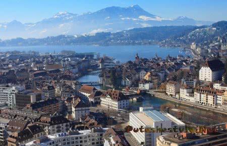 Город Люцерн в Швейцарии