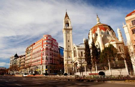 Город Мадрид в Испании