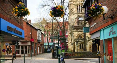 Город Уитби (Whitby) в Англии