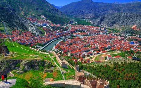 Город Амасья (Amasya) в Турции