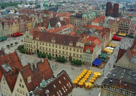 Город Вроцлав в Польше