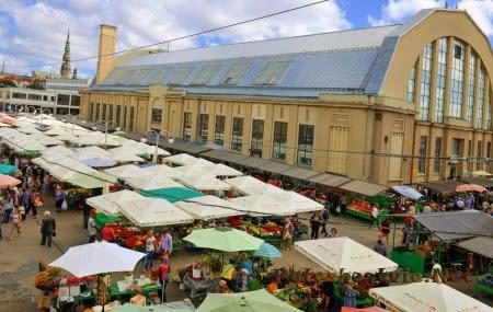Старинный городской рынок
